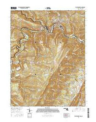 Westernport Maryland Current topographic map, 1:24000 scale, 7.5 X 7.5 Minute, Year 2016