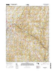 Westminster Maryland Current topographic map, 1:24000 scale, 7.5 X 7.5 Minute, Year 2016 from Maryland Maps Store
