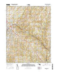 Westminster Maryland Current topographic map, 1:24000 scale, 7.5 X 7.5 Minute, Year 2016