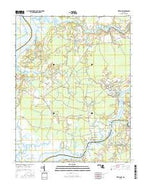 Wetipquin Maryland Current topographic map, 1:24000 scale, 7.5 X 7.5 Minute, Year 2016 from Maryland Map Store