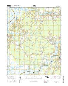 Wetipquin Maryland Current topographic map, 1:24000 scale, 7.5 X 7.5 Minute, Year 2016