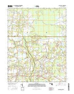 Whaleyville Maryland Current topographic map, 1:24000 scale, 7.5 X 7.5 Minute, Year 2016 from Maryland Map Store