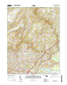 White Marsh Maryland Current topographic map, 1:24000 scale, 7.5 X 7.5 Minute, Year 2016