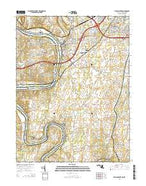 Williamsport Maryland Current topographic map, 1:24000 scale, 7.5 X 7.5 Minute, Year 2014 from Maryland Map Store