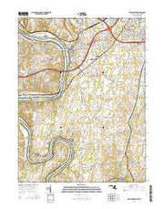 Williamsport Maryland Current topographic map, 1:24000 scale, 7.5 X 7.5 Minute, Year 2014 from Maryland Maps Store