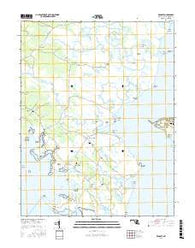 Wingate Maryland Current topographic map, 1:24000 scale, 7.5 X 7.5 Minute, Year 2016