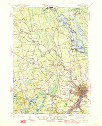 Bangor Maine Historical topographic map, 1:62500 scale, 15 X 15 Minute, Year 1946