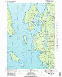Bartlett Island Maine Historical topographic map, 1:24000 scale, 7.5 X 7.5 Minute, Year 1981