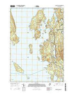 Bartlett Island Maine Current topographic map, 1:24000 scale, 7.5 X 7.5 Minute, Year 2014 from Maine Map Store