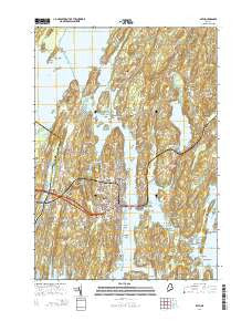 Bath Maine Current topographic map, 1:24000 scale, 7.5 X 7.5 Minute, Year 2014