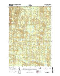 Bean Pot Pond Maine Current topographic map, 1:24000 scale, 7.5 X 7.5 Minute, Year 2014