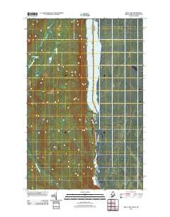 Beau Lake Maine Historical topographic map, 1:24000 scale, 7.5 X 7.5 Minute, Year 2011