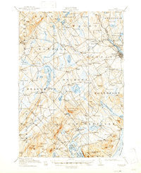 Belfast Maine Historical topographic map, 1:62500 scale, 15 X 15 Minute, Year 1917