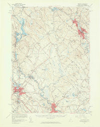 Berwick Maine Historical topographic map, 1:62500 scale, 15 X 15 Minute, Year 1958