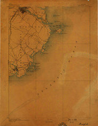 Biddeford Maine Historical topographic map, 1:62500 scale, 15 X 15 Minute, Year 1893