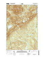 Big Moose Pond Maine Current topographic map, 1:24000 scale, 7.5 X 7.5 Minute, Year 2014 from Maine Map Store