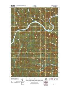 Big Rapids Maine Historical topographic map, 1:24000 scale, 7.5 X 7.5 Minute, Year 2011