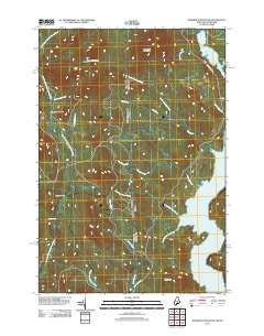 Bosebuck Mountain Maine Historical topographic map, 1:24000 scale, 7.5 X 7.5 Minute, Year 2011