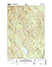 Bradford Maine Current topographic map, 1:24000 scale, 7.5 X 7.5 Minute, Year 2014 from Maine Maps Store