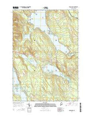 Branch Lake Maine Current topographic map, 1:24000 scale, 7.5 X 7.5 Minute, Year 2014 from Maine Maps Store
