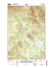 Brandy Pond Maine Current topographic map, 1:24000 scale, 7.5 X 7.5 Minute, Year 2014 from Maine Maps Store