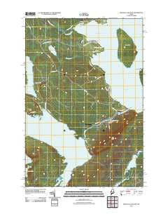 Brassua Lake East Maine Historical topographic map, 1:24000 scale, 7.5 X 7.5 Minute, Year 2011