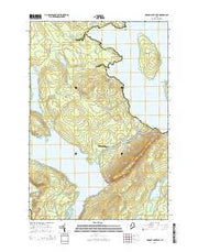 Brassua Lake East Maine Current topographic map, 1:24000 scale, 7.5 X 7.5 Minute, Year 2014 from Maine Maps Store