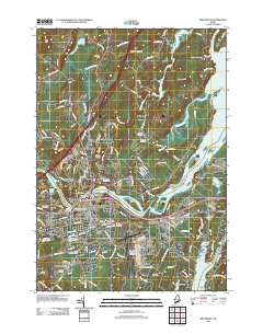 Brunswick Maine Historical topographic map, 1:24000 scale, 7.5 X 7.5 Minute, Year 2011