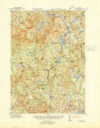 Buckfield Maine Historical topographic map, 1:62500 scale, 15 X 15 Minute, Year 1942