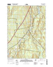 Burnham Maine Current topographic map, 1:24000 scale, 7.5 X 7.5 Minute, Year 2014 from Maine Maps Store