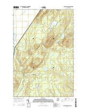Burntland Pond Maine Current topographic map, 1:24000 scale, 7.5 X 7.5 Minute, Year 2014 from Maine Maps Store