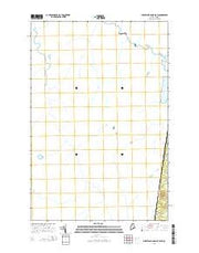 Burntland Pond OE W Maine Current topographic map, 1:24000 scale, 7.5 X 7.5 Minute, Year 2014 from Maine Maps Store