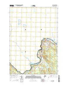Calais Maine Current topographic map, 1:24000 scale, 7.5 X 7.5 Minute, Year 2014