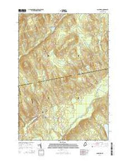 Cambridge Maine Current topographic map, 1:24000 scale, 7.5 X 7.5 Minute, Year 2014 from Maine Maps Store