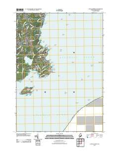 Cape Elizabeth Maine Historical topographic map, 1:24000 scale, 7.5 X 7.5 Minute, Year 2011