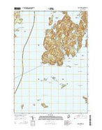 Cape Rosier Maine Current topographic map, 1:24000 scale, 7.5 X 7.5 Minute, Year 2014 from Maine Map Store