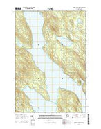 Caribou Lake North Maine Current topographic map, 1:24000 scale, 7.5 X 7.5 Minute, Year 2014 from Maine Map Store