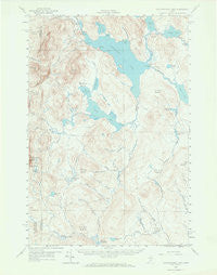 Caucomgomoc Lake Maine Historical topographic map, 1:62500 scale, 15 X 15 Minute, Year 1958