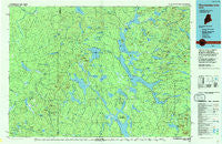 Chamberlain Lake Maine Historical topographic map, 1:100000 scale, 30 X 60 Minute, Year 1994