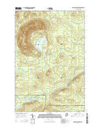 Chandler Mountain Maine Current topographic map, 1:24000 scale, 7.5 X 7.5 Minute, Year 2014 from Maine Map Store