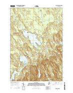 Chemo Pond Maine Current topographic map, 1:24000 scale, 7.5 X 7.5 Minute, Year 2014 from Maine Map Store