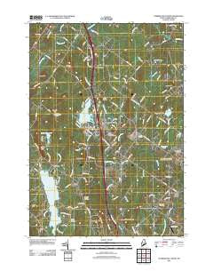 Cumberland Center Maine Historical topographic map, 1:24000 scale, 7.5 X 7.5 Minute, Year 2011