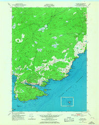 Cutler Maine Historical topographic map, 1:24000 scale, 7.5 X 7.5 Minute, Year 1949
