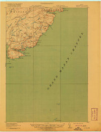 Cutler Maine Historical topographic map, 1:62500 scale, 15 X 15 Minute, Year 1918