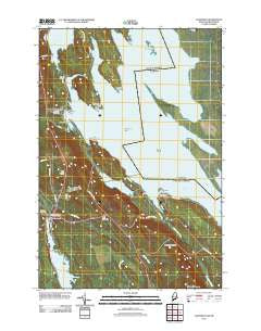 Danforth Maine Historical topographic map, 1:24000 scale, 7.5 X 7.5 Minute, Year 2011
