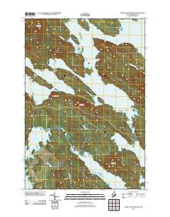 Dark Cove Mountain Maine Historical topographic map, 1:24000 scale, 7.5 X 7.5 Minute, Year 2011