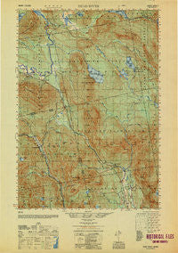 Dead River Maine Historical topographic map, 1:50000 scale, 15 X 15 Minute, Year 1950