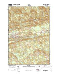 Dover-Foxcroft Maine Current topographic map, 1:24000 scale, 7.5 X 7.5 Minute, Year 2014