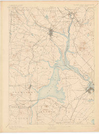 Dover New Hampshire Historical topographic map, 1:62500 scale, 15 X 15 Minute, Year 1893