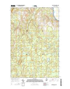 Doyle Ridge Maine Current topographic map, 1:24000 scale, 7.5 X 7.5 Minute, Year 2014